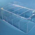 "20""W x 12""H x 11.5""D - Cleanroom 4-Compartment Dispenser (Separate Lids)"