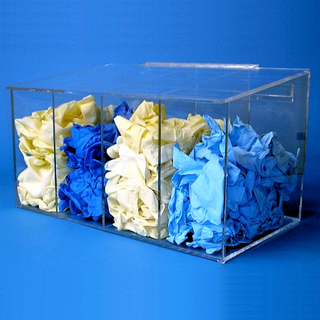 """21""""W x 12""""H x 12""""D - Cleanroom 4-Compartment Dispenser (Sloping Lid)"""