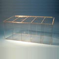 """26""""W x 12""""H x 12""""D - Cleanroom 5-Compartment Dispenser (Sloping Lid)"""