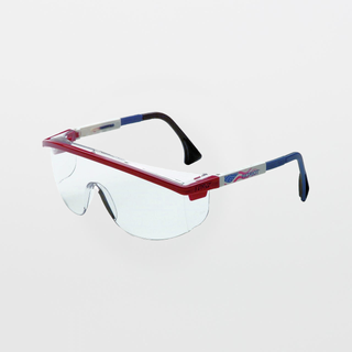 UVEX Astrospec 3000 Patriot RWB Clear Safety Glasses (Anti-Fog)