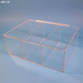 """18.5""""W x 7""""H x 13""""D - Cleanroom 3-Compartment Dispenser (with Lid)"""