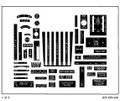 Piper PA-44 Seminole interior decal set. Sheet 1 of 2.