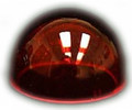 Whelen W1284R 68-4230020-50 Lens, Red Position Light used with A650 Series