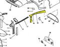 Moulding, Rear Window LH. Cessna 0715044-15 & 0715044-15-532