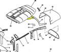 Moulding, Upper Aft Window. RH. Cessna 0715010-4, 0715010-4-532