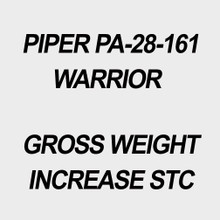 Piper Warrior PA-28-161 Gross Weight Increase STC.
