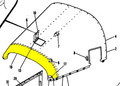 Upper Nose Cap. Cessna 180 & 182. 1960. Cessna Part 0752019-2. K2U Part 047-SC180303-1. (Screw Attachment)