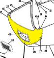 Lower Nose Cap. Cessna 180 & 182. 1961 thru 68. Cessna Part 0752031-202 & 0752031-30. (Camloc Attachment) K2U Part 047-SC180604-1