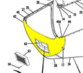 Lower Nose Cap. Cessna 180. 1962 thru 72. Cessna Part 0752031-207. (Camloc Attachment) K2U Part 047-SC180605-1