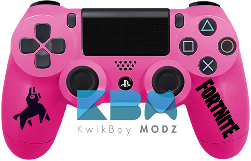 Custom Pink Fortnite PS4 Controller