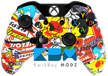 Custom Sticker Bomb Xbox One Controller
