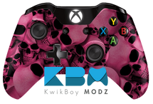 Pink Skull Pile Xbox One Controller