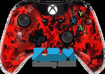 Custom Red Digital Camo Xbox One Controller