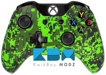 Custom Green Digital Camo Xbox One Controller