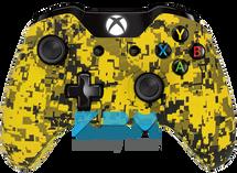 Custom Yellow Digital Camo Xbox One Controller