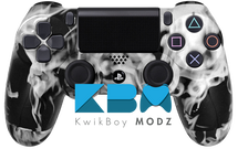 Custom White Inferno PS4 Controller