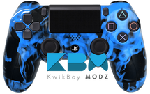 Custom Blue Inferno PS4 Controller