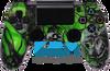 Custom Green Mr.Creepy Skulls PS4 Controller