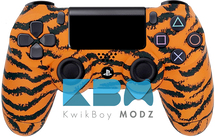 Custom Orange Tiger PS4 Controller