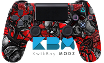 Custom Red Mr.Creepy PS4 Controller