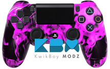 Custom Pink Inferno PS4 Controller