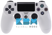 Custom White PS4 Controller