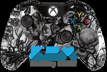 Mr.Creepy Skulls Xbox One Controller - White