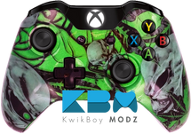 Mr.Creepy Skulls Xbox One Controller - Green