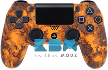 Custom Orange Defected PS4 Controller