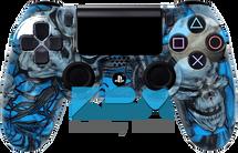 Custom Blue Mr.Creepy PS4 Controller