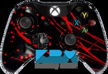 Black Blood Splatter Xbox One Controller