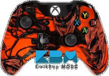 Mr.Creepy Skulls Neon Orange Xbox One Controller