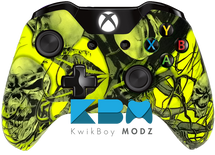 Mr.Creepy Skulls Neon Yellow Xbox One Controller