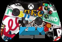 Big Sticker Bomb Xbox One Controller