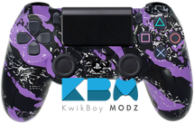 Purple Splatter Custom PS4 Controller