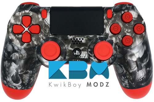 The Red Reaper Custom PS4 Controller