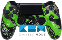 Green Splatter Custom PS4 Controller