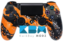 Orange Splatter Custom PS4 Controller
