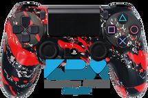 Custom Red Splatter PS4 Controller