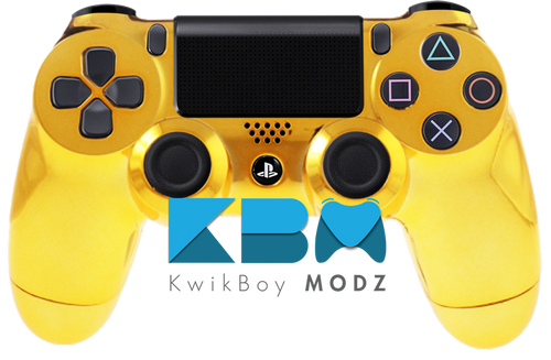 Gold Chrome Custom PS4 Controller