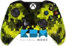 Custom Yellow Camotech Xbox One Controller