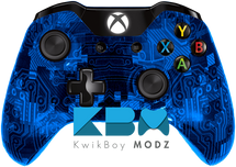Custom Blue Camotech Xbox One Controller