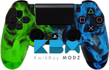 Custom Green Blue Inferno PS4 Controller