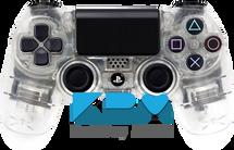 Custom Clear PS4 Controller