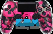 Custom Pink Skull Pile PS4 Controller