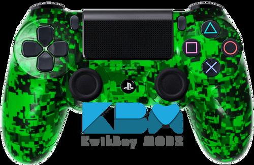 Custom Green Digital Camo PS4 Controller