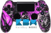 Custom Pink Mr.Creepy Skulls PS4 Controller