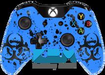 Custom Blue BioSplatter Xbox One Controller