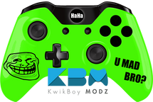 Custom Green Troll Face Xbox One Controller