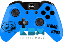 Custom Blue Troll Face Xbox One Controller